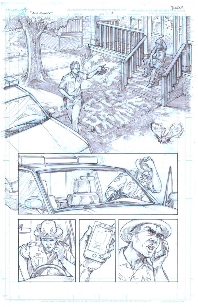 Old Haunts, page 1 © 2011 Daniel Wong, James Cooper